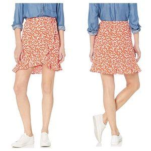 J.Crew Tie Waist Floral Ruffle Wrap Mini Skirt